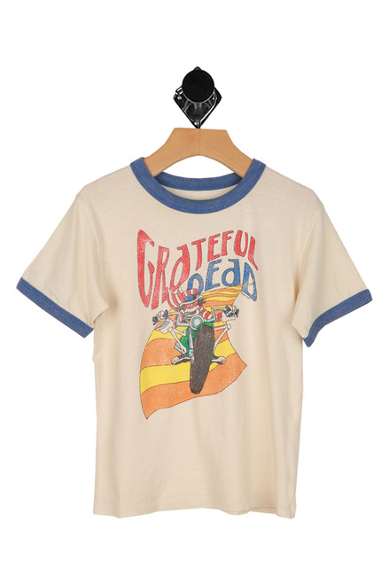 Grateful Dead graphic at front with ringer style tee