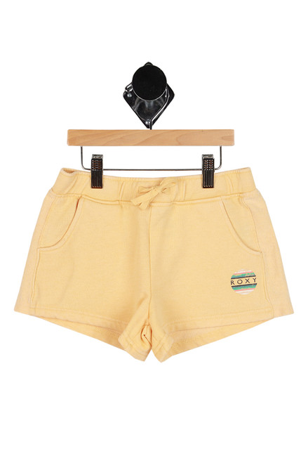 mustard yellow sweat shorts