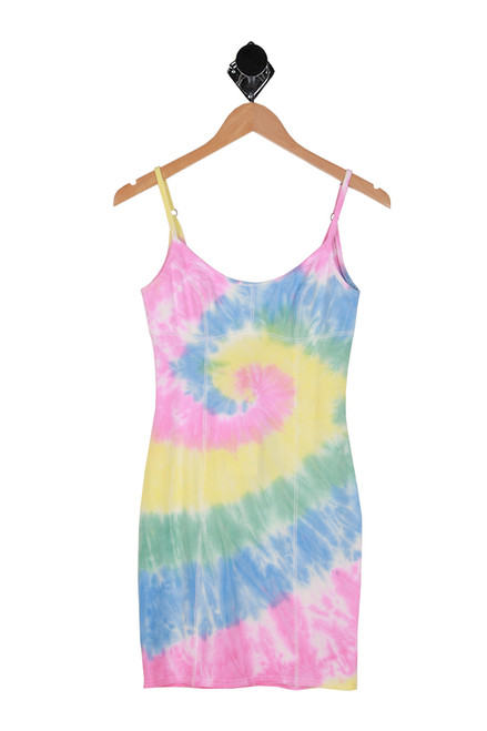 Bodycon Cami Tie Dye Mini Dress