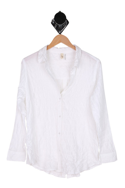 Crinkled L/S Button Up Blouse
