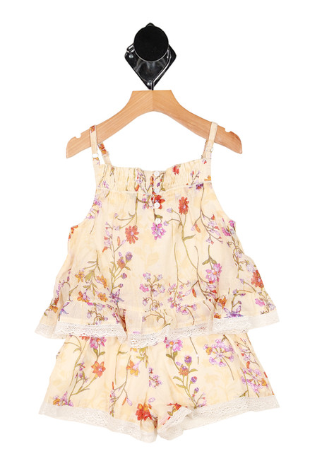Botanical Flowers Romper (Little Kid)