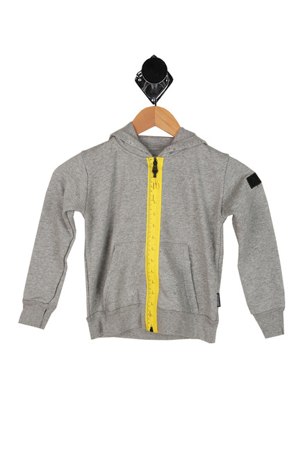 Distressed Measuring Band Zip Up (Little Kid)