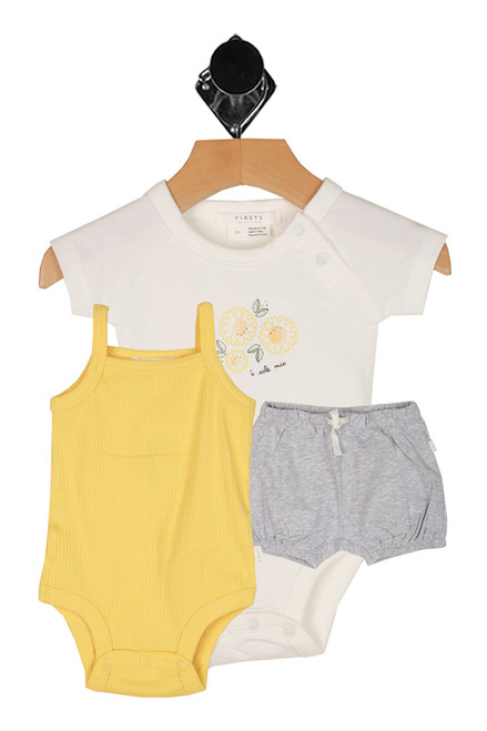 Yellow Flower 3 Piece Set (Infant)