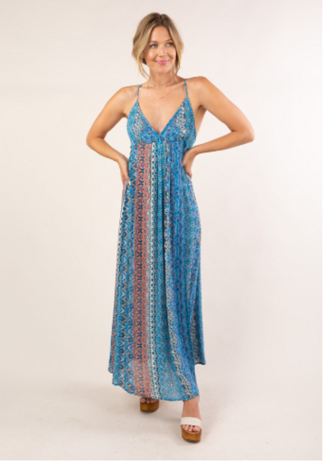 Marrakesh Metallic Strap Maxi Dress (+ colors)