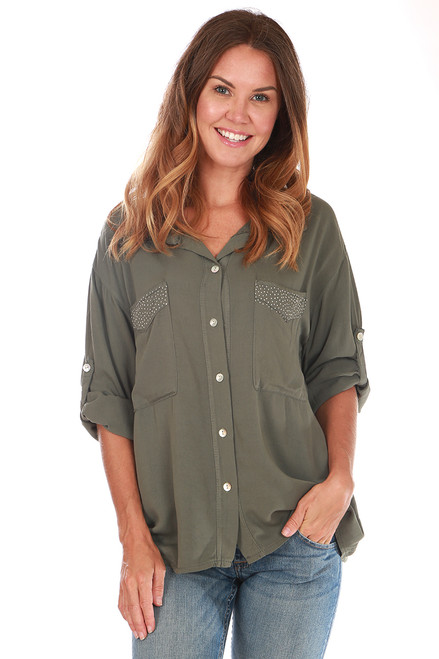 Tencel L/S Button Up Blouse (+ colors)