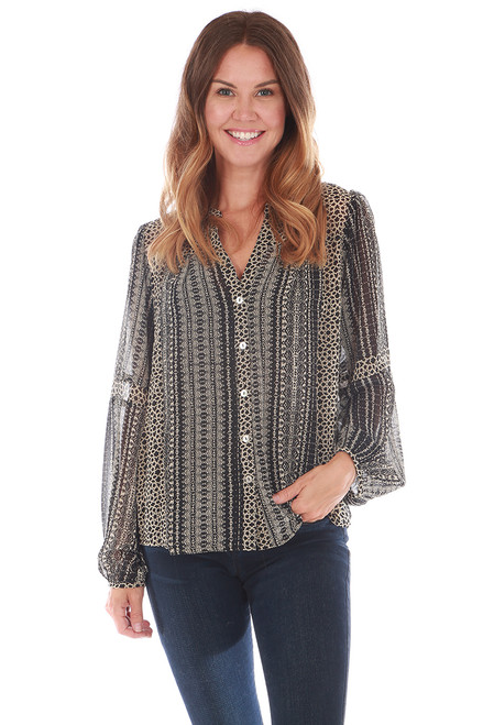 Button Up Blouse w/ Cami