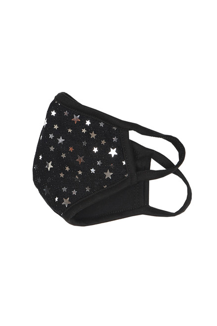 Cotton Mask W/ Silver Stars