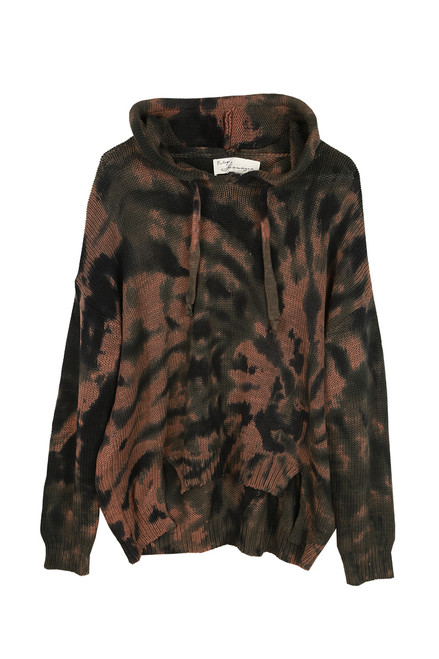 Forest Tie Dye Over Sized Hoodie
