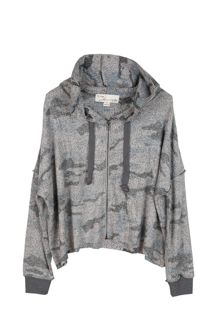 Cozy Fleece Camo Zip Up Hoodie