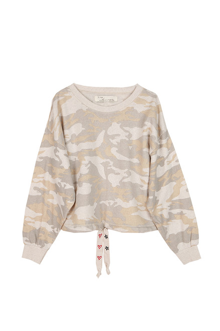 Camo Burnout Crew Neck Sweatshirt