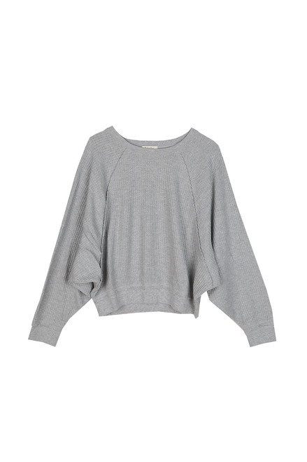 Claire Waffle L/S Top
