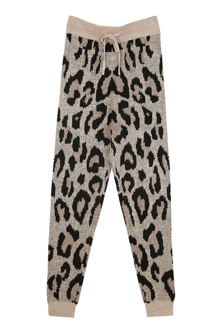 Leopard Sweater Jogger Pants