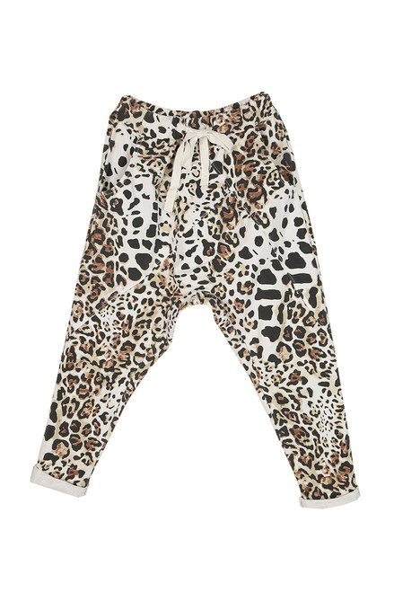 Leopard Slouch Joggers