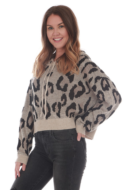 Leopard Hooded Sweater
