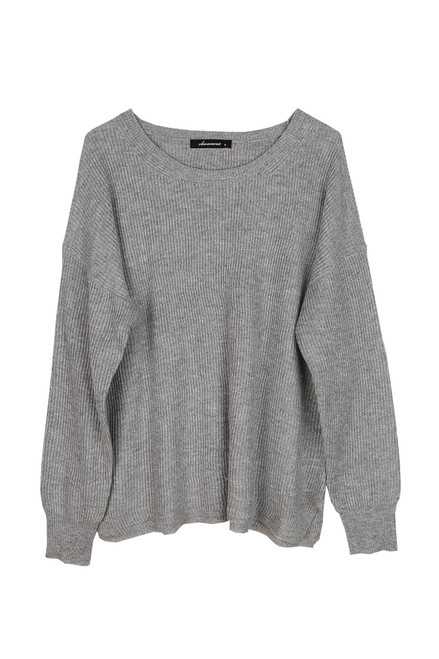 Ribbed Crewneck L/S Sweater