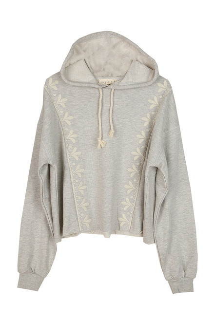 French Terry Embroidered Hoodie