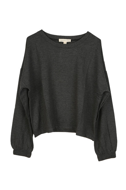 Cozy Cropped L/S Crewneck