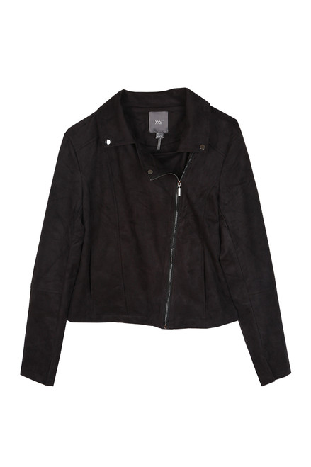 Essential Faux Suede Moto Jacket