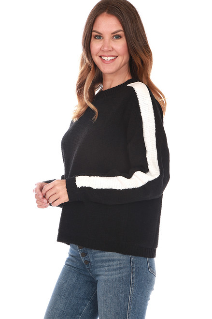 Round Neck L/S Chenille Sweater