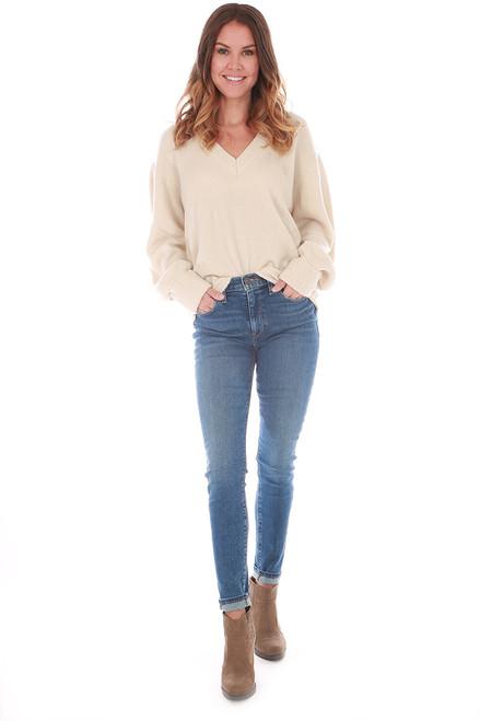 V-Neck Basic L/S Sweater