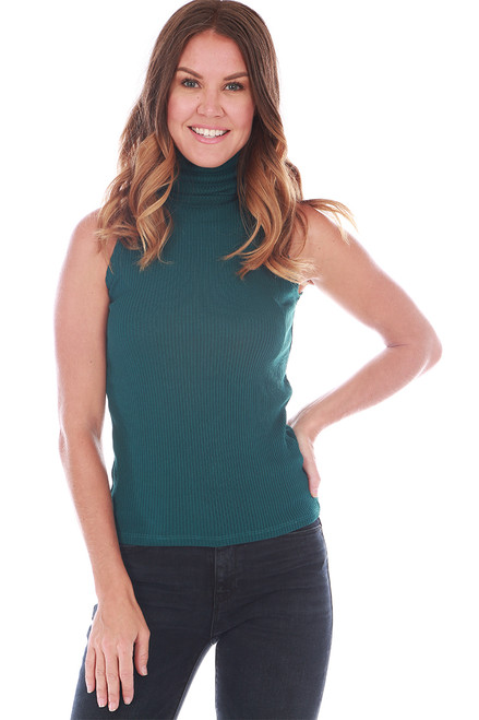 Ribbed Turtleneck Tank (+ colors)