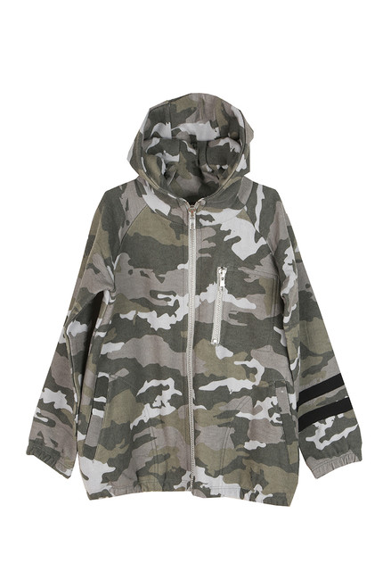 Boys Love Knit Zip Up Camo Hoodie (Little/Big Kid)