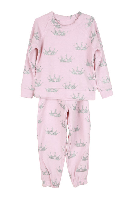 Pink Queen Lounge Set (Toddler/Little Kid)