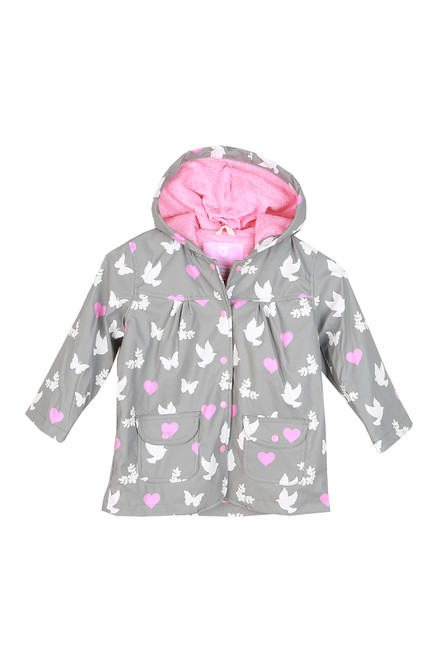 Birds & Butterfly Color-Changing Rain Coat (Little Kid)