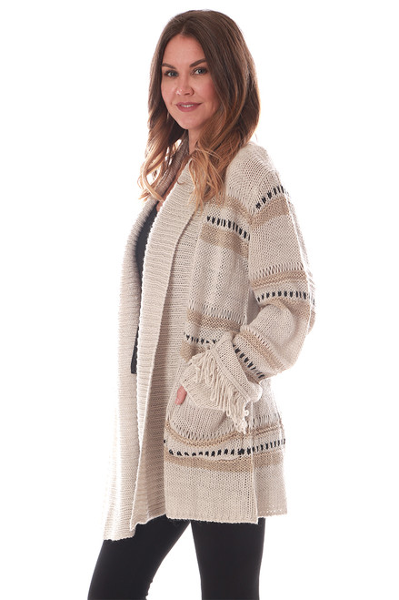 Thick Knit Sweater Cardigan