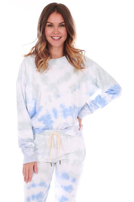 Blue Wash Tie Dye Sweatshirt