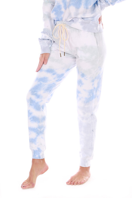 Blue Wash Tie Dye Jogger Sweatpants