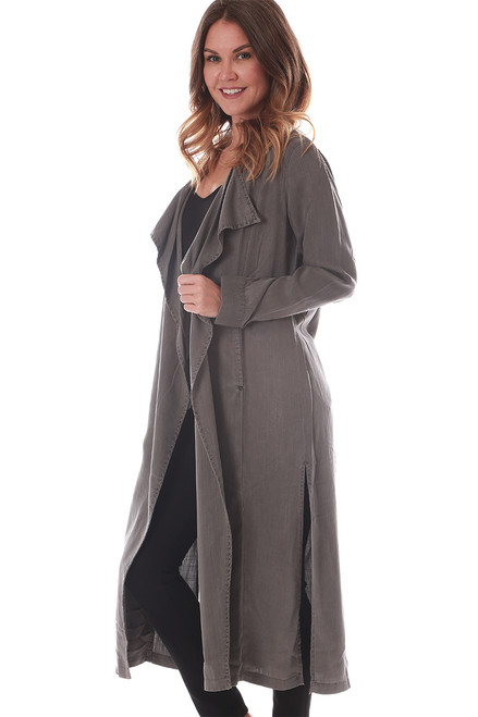 L/S Open Trench Coat