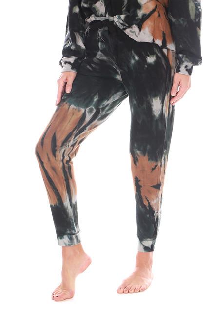 Dark Tie Dye Jogger Pants