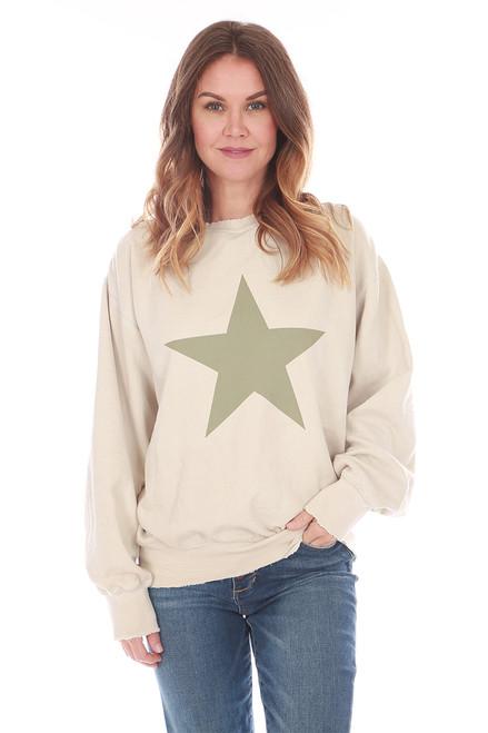Star Fleece Crew Neck Sweatshirt (+ colors)