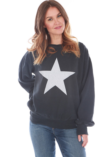Star Fleece Crew Neck Sweatshirt (+ colors)