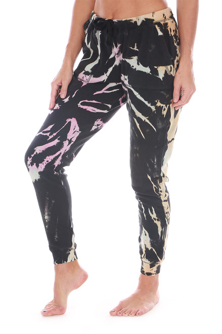 Tie Dye Burnout Black Joggers