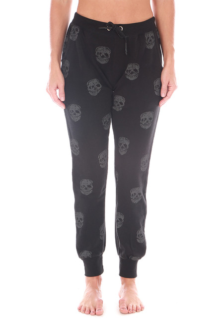 Skull Burnout Fleece Joggers