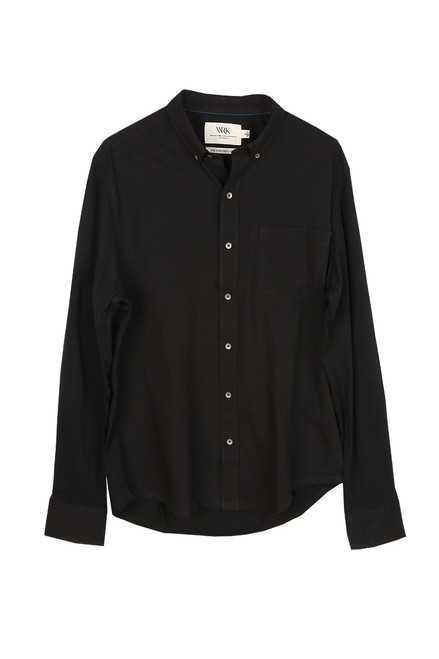 Men's Solid Reworked L/S Butt Up Shirt