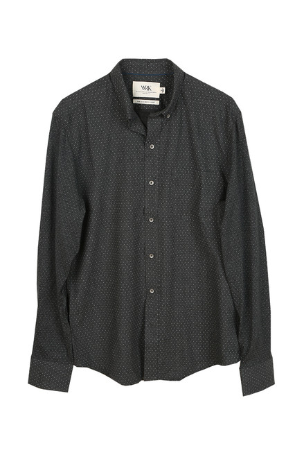Men's Dot Reworked L/S Button Up Top