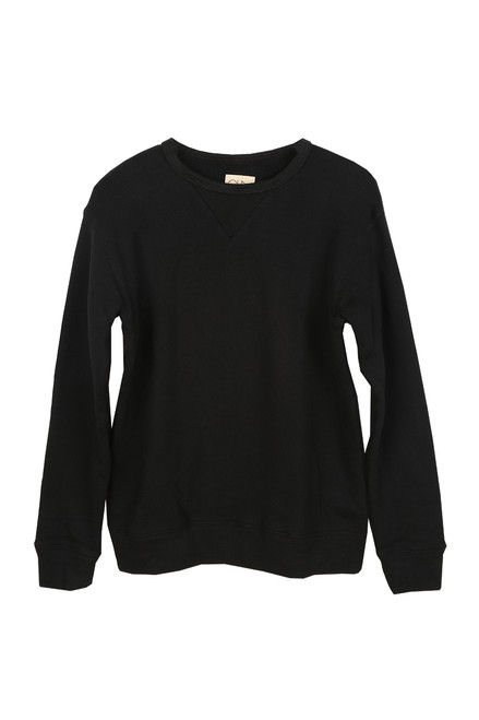 pullover, long sleeve, mens, black, crew neckline