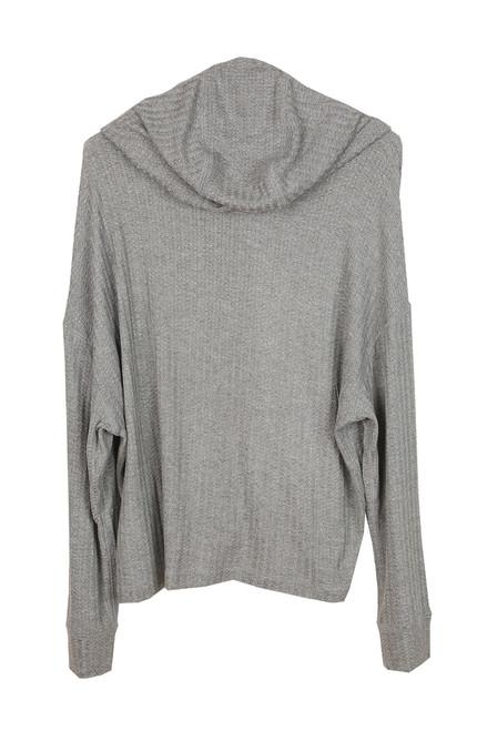 back hoodie in grey