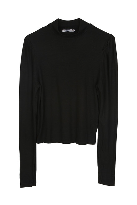 Cropped Mock Turtleneck Top