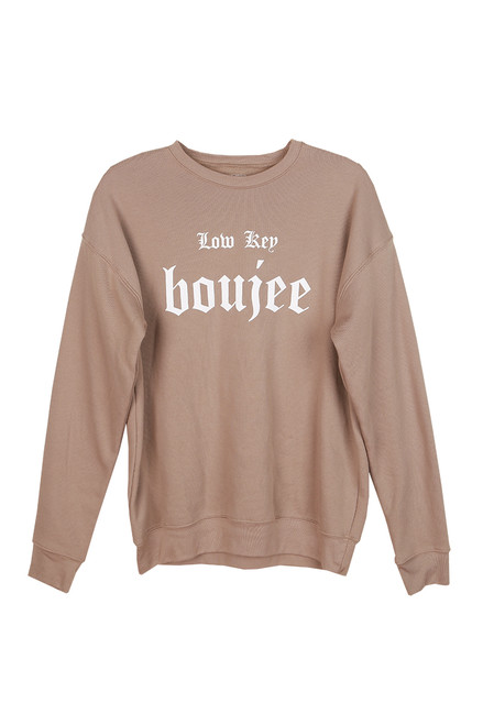 Low Key Boujee Crewneck
