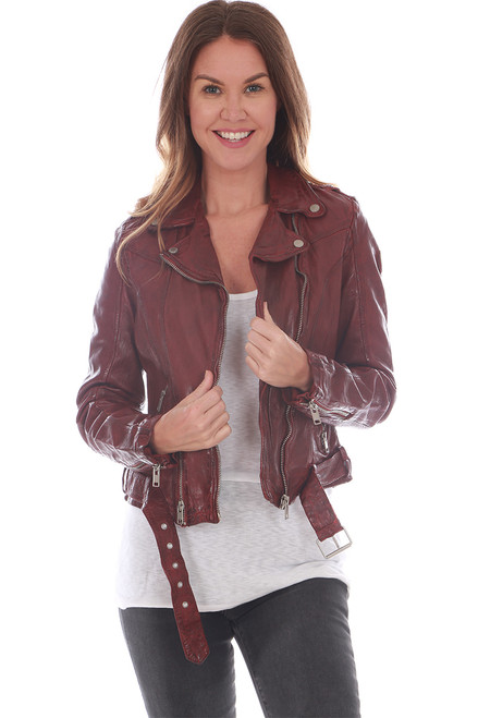 100% Leather Bomber Jacket