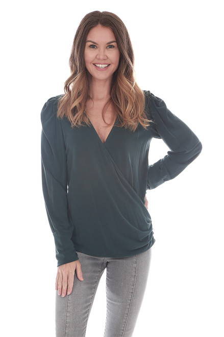 L/S Surplice Front Blouse (+ colors)