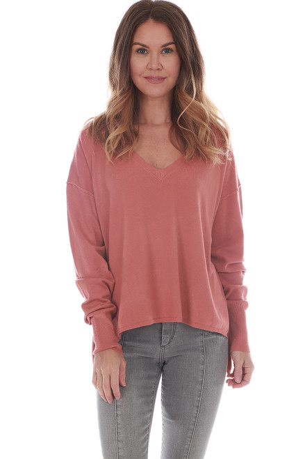 Hi-Lo V-Neck Knit Sweater (+ colors)