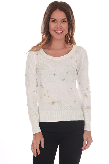 Cashmere Blend Moon & Stars Sweater