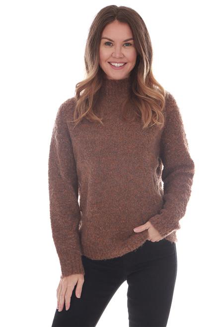 Mock Neck Cozy L/S Sweater
