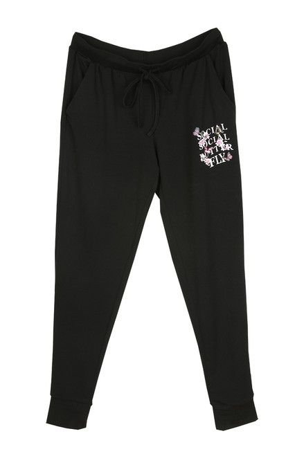 Printed Black Joggers (+ colors)