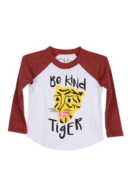Vintage Be Kind Tiger Raglan Tee (Toddler)